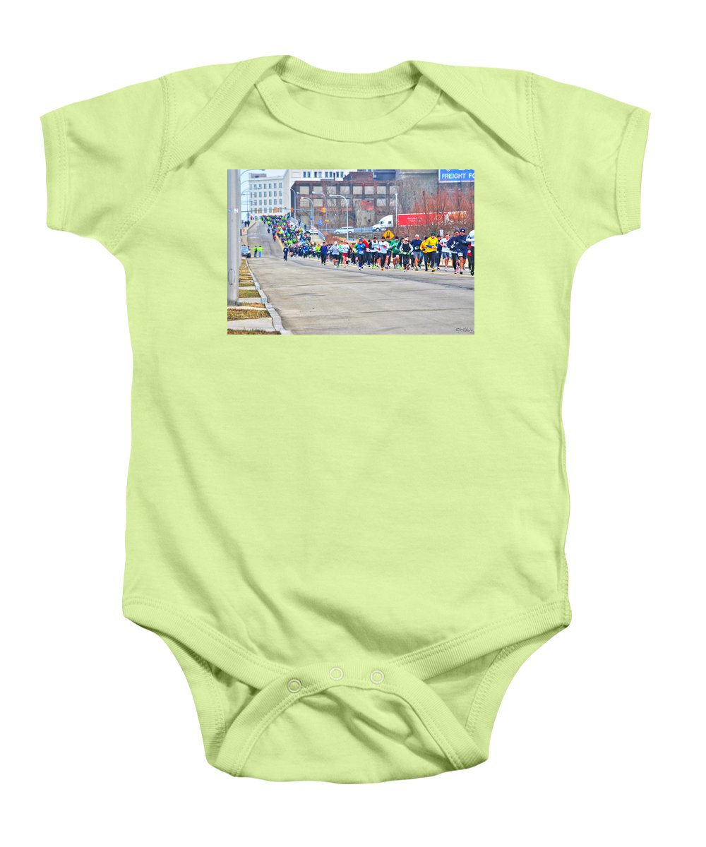 Baby Onesie featuring the photograph 019 Shamrock Run Series by Michael Frank Jr