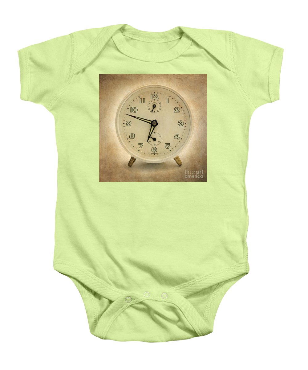 Waking Baby Onesie featuring the photograph Clock by Bernard Jaubert