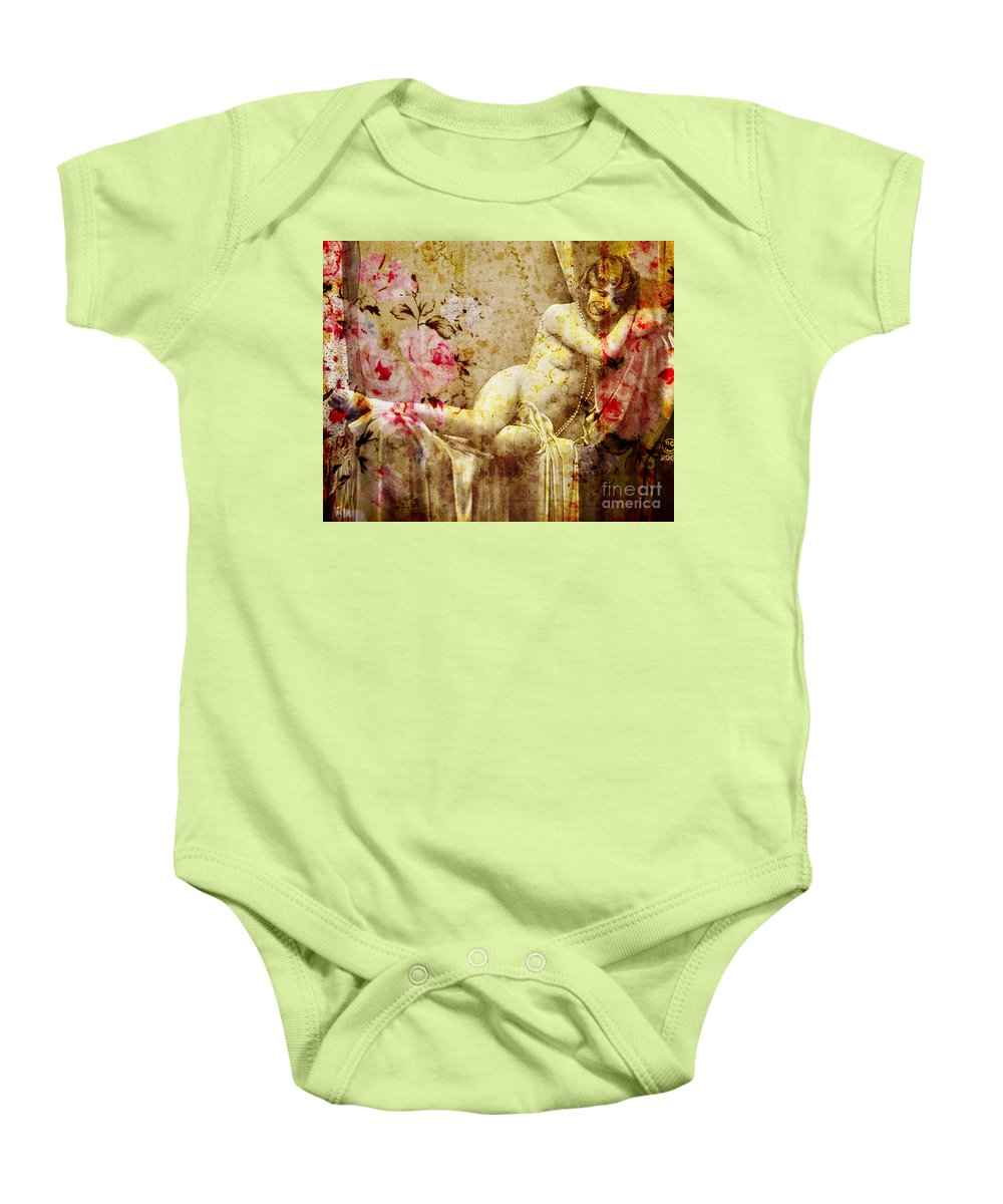 Nostalgic Seduction Baby Onesie featuring the photograph Winsome Woman by Chris Andruskiewicz