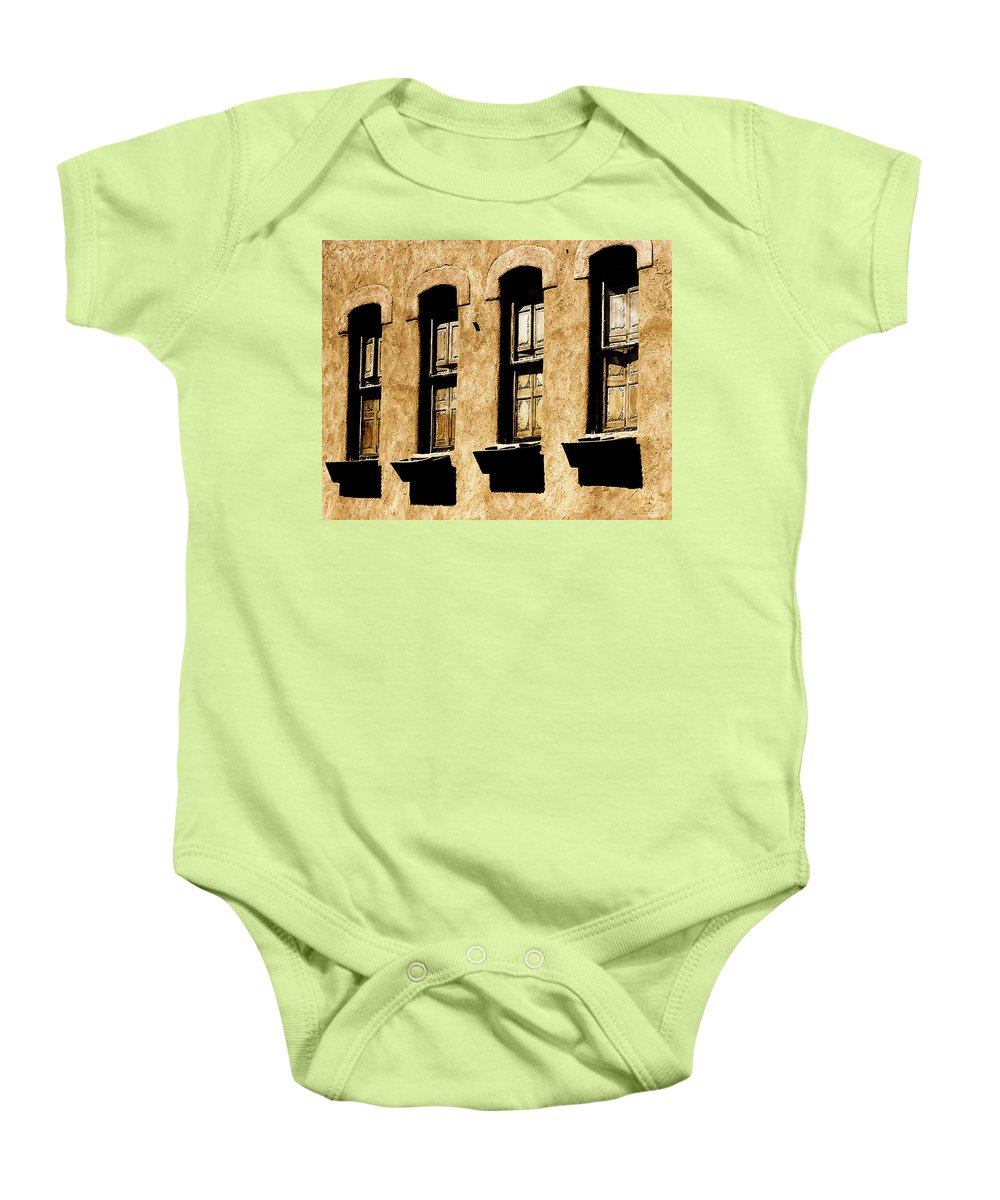 Windows Baby Onesie featuring the photograph Above Galisteo by Terry Fiala