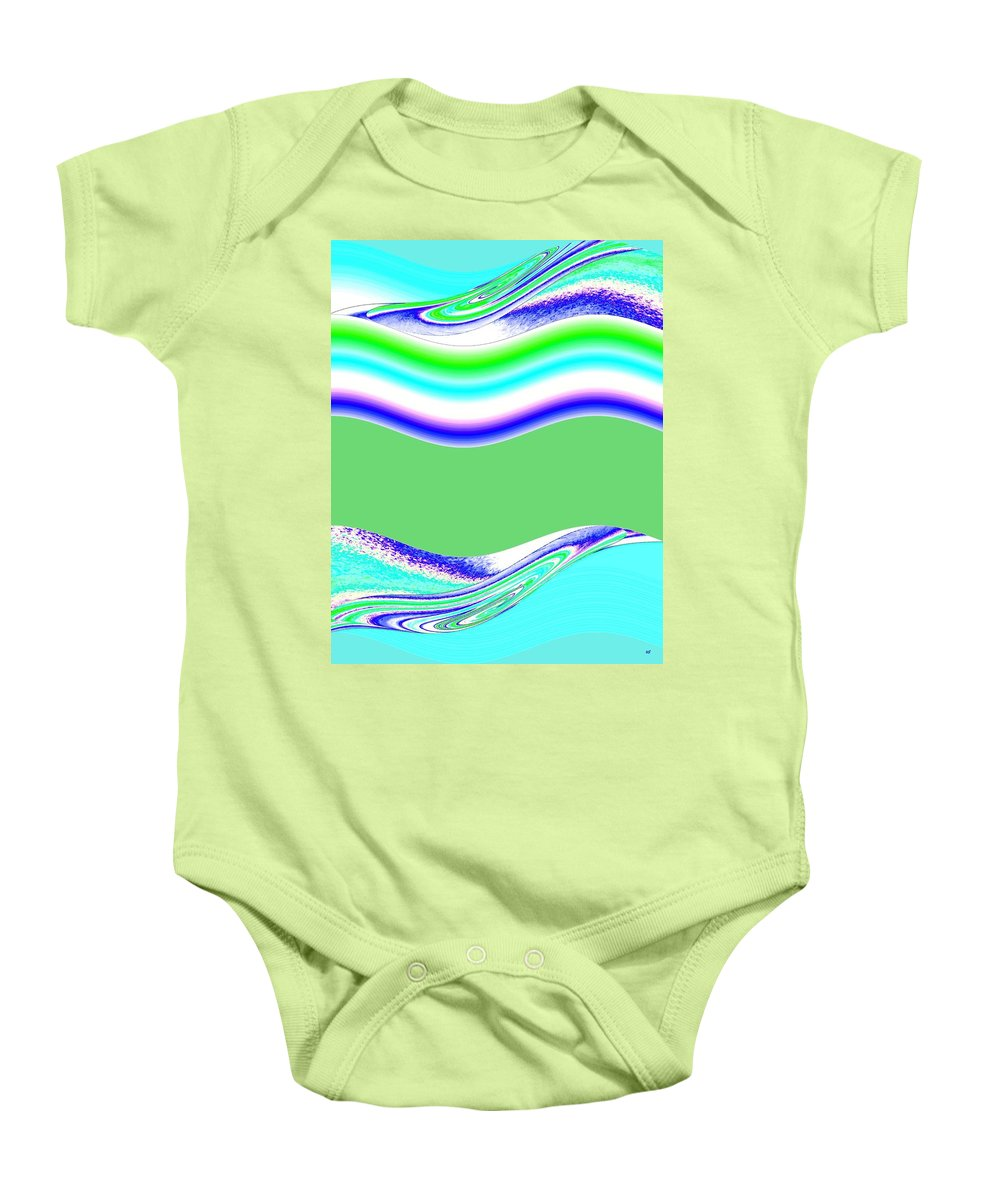 Abstract Fusion Baby Onesie featuring the digital art Abstract Fusion 146 by Will Borden