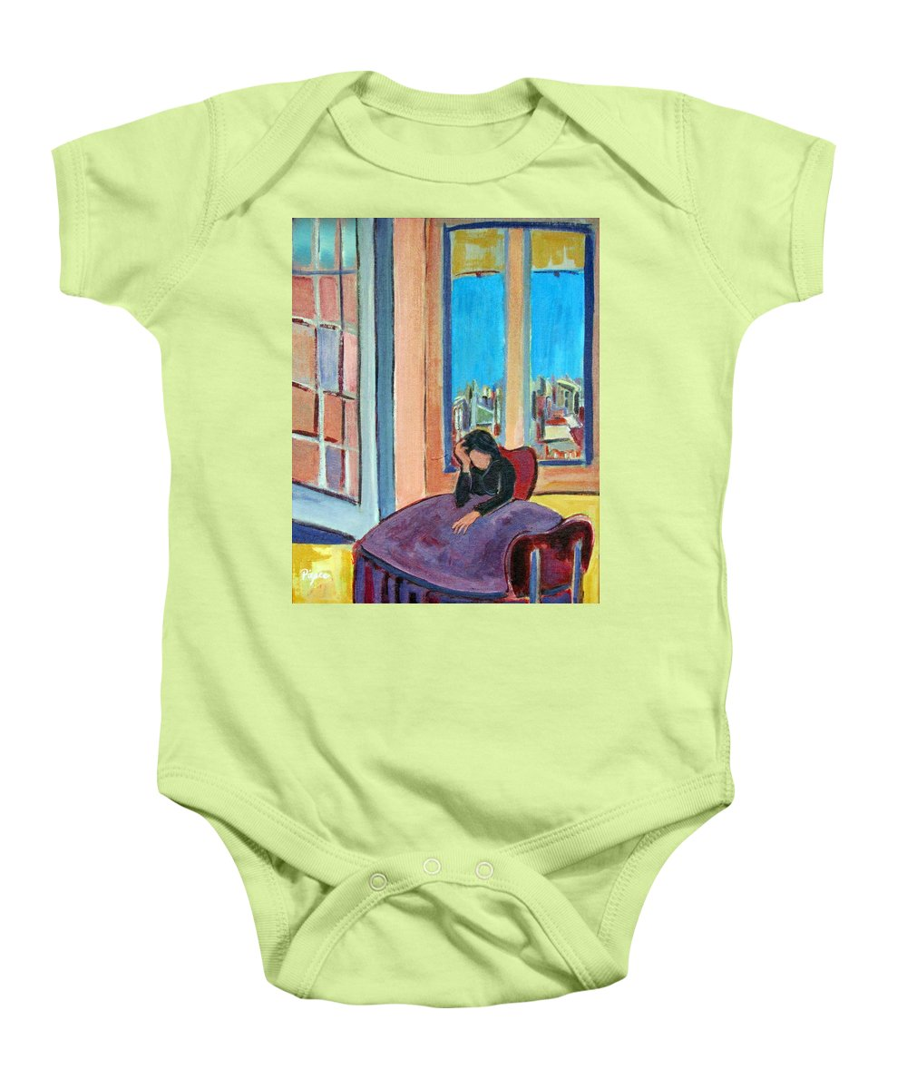 Alone Baby Onesie featuring the painting Alone by Betty Pieper