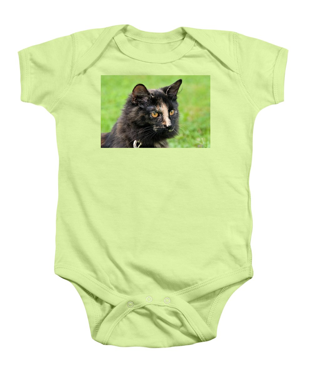 Cat Baby Onesie featuring the photograph Bug 2956 by Guy Whiteley