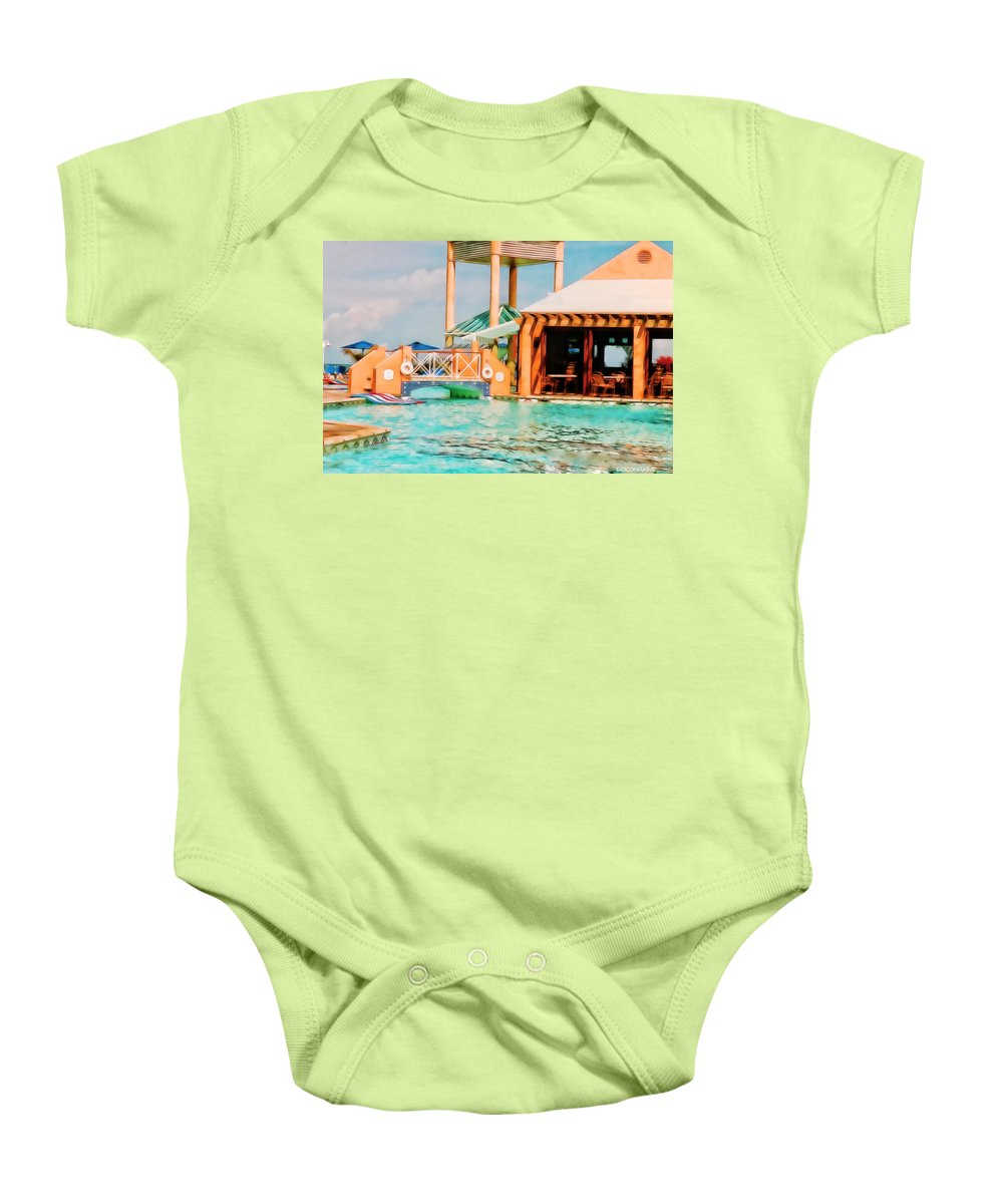 Caribbean Baby Onesie featuring the photograph Caribbean-turks And Caicos Sandals by Ericamaxine Price