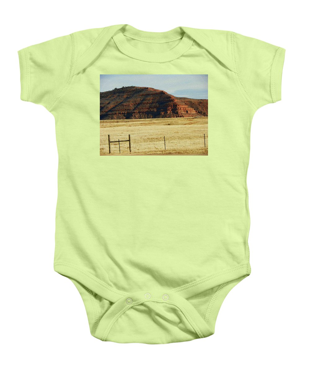 Abstract Baby Onesie featuring the photograph Colorado 3 by Lenore Senior
