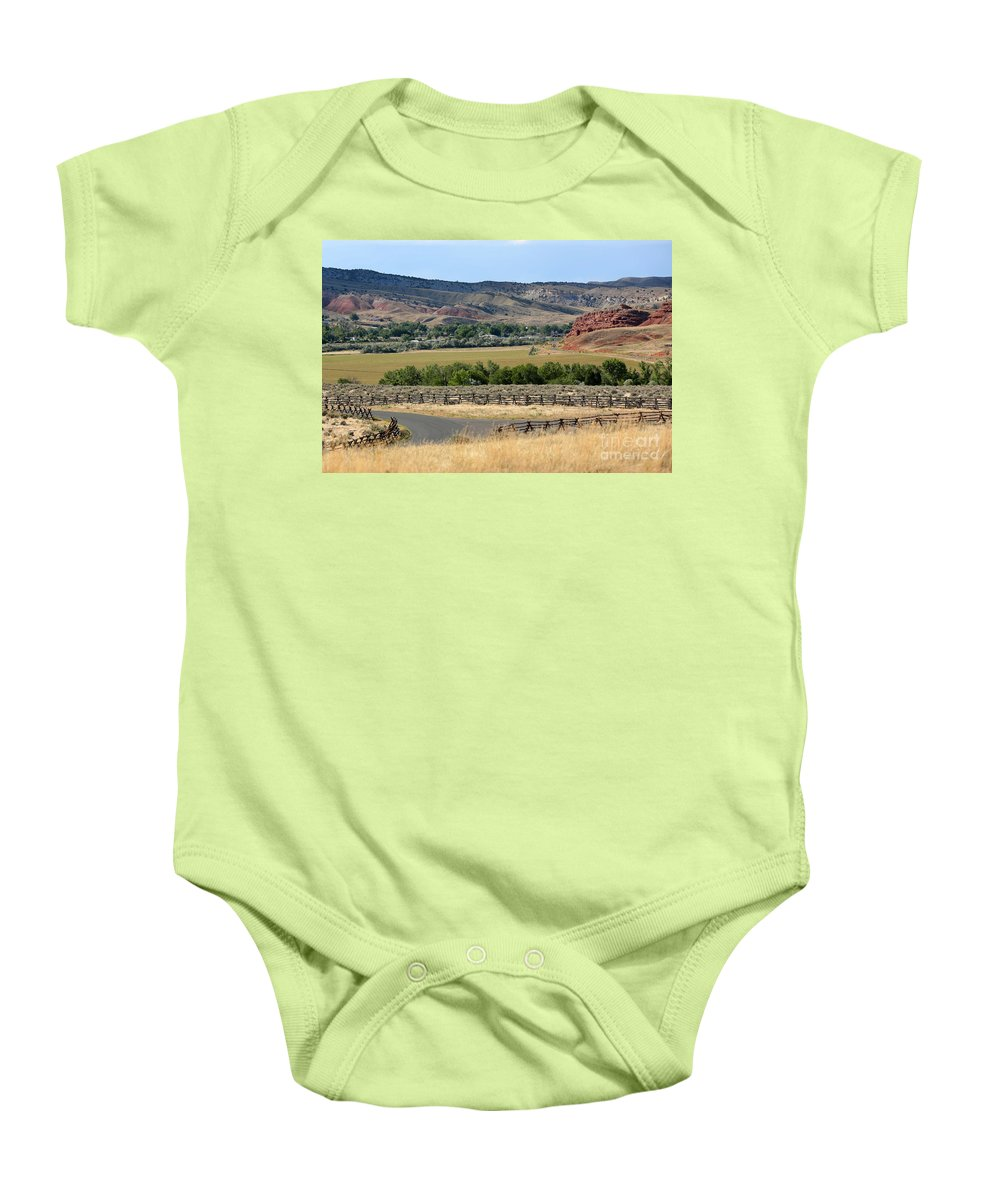 Wyoming Baby Onesie featuring the photograph Colorful Hills Of Wyoming by Carol Groenen