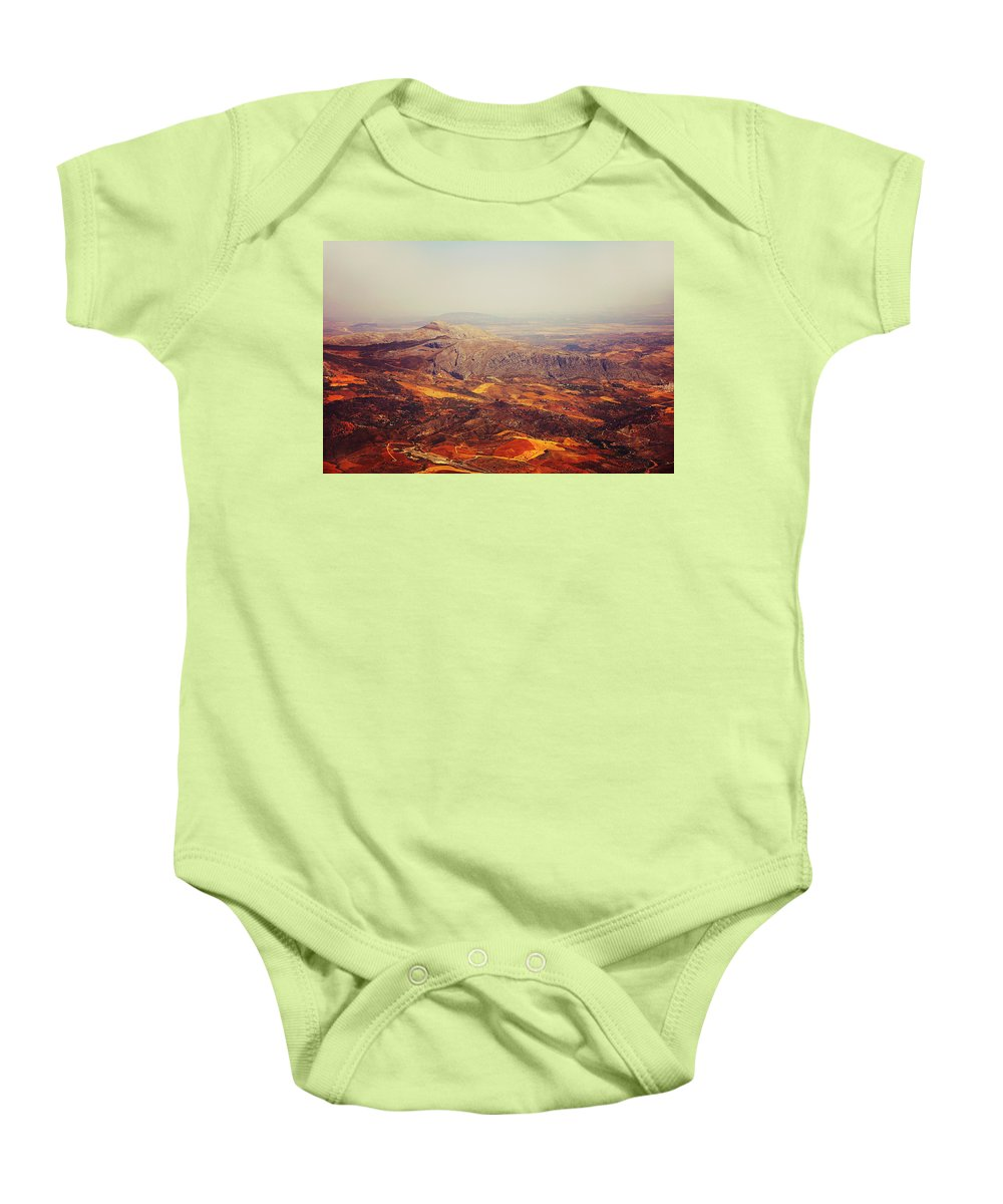 Spain Baby Onesie featuring the photograph Flying Over Spanish Land by Jenny Rainbow