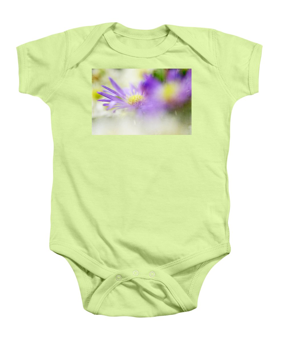 Flowers Baby Onesie featuring the photograph Gentle Bliss by Jenny Rainbow