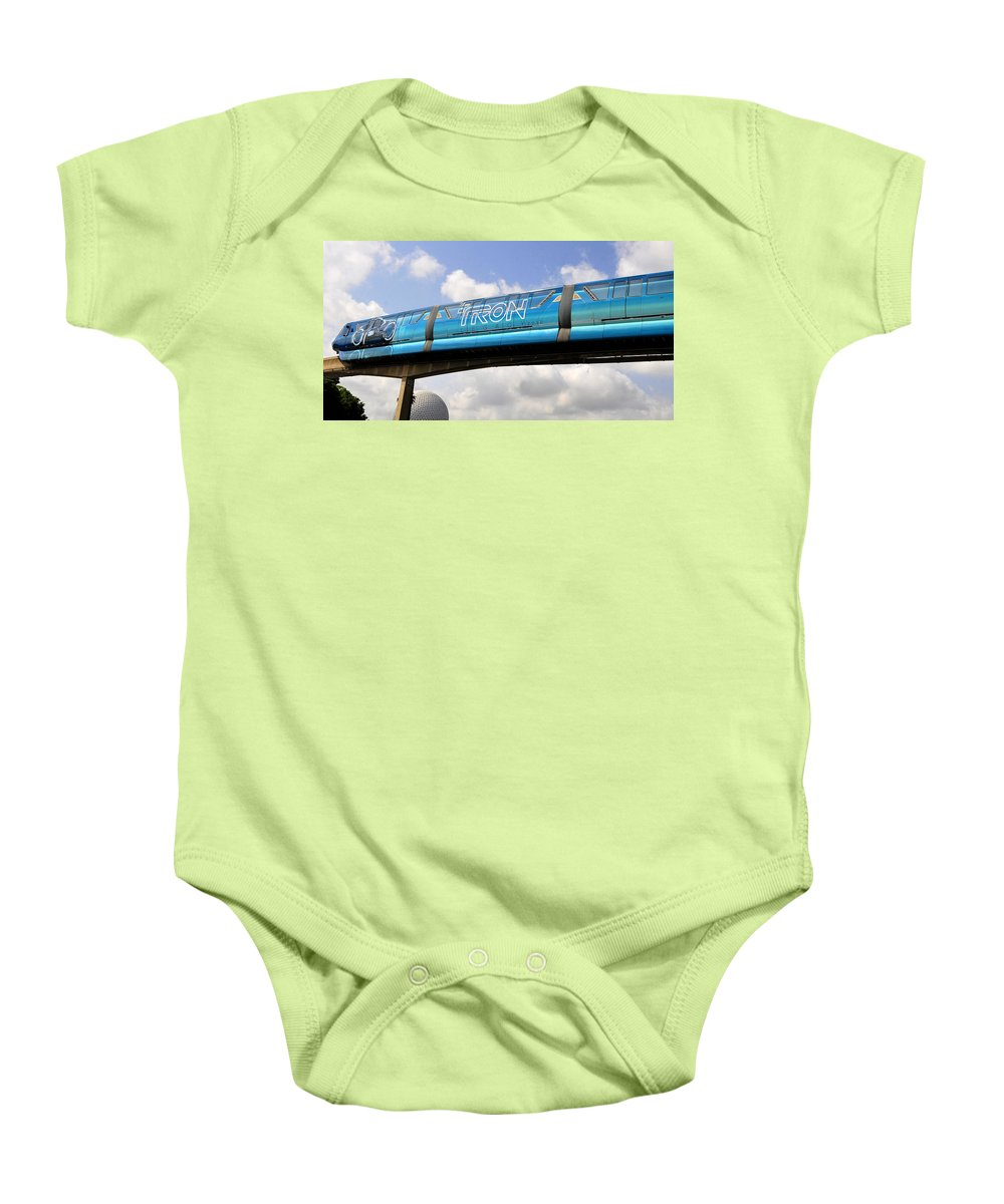 Panoramic Photography Baby Onesie featuring the photograph Mono Tron by David Lee Thompson