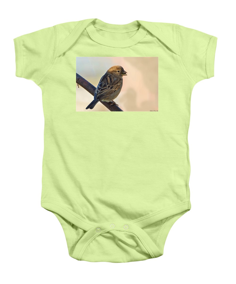 Nature Baby Onesie featuring the photograph Morning Snack by Debbie Portwood