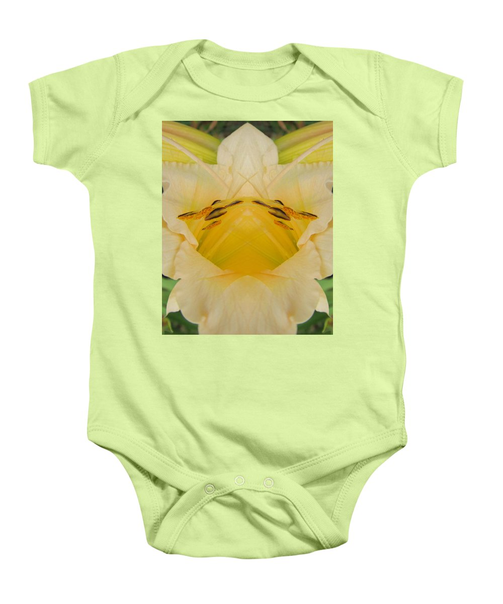 Color Blend Baby Onesie featuring the digital art Pale Yellow Fantasy by Michele Caporaso