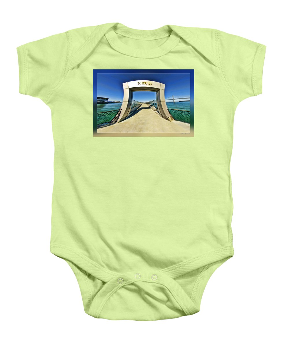 Art Photography Baby Onesie featuring the photograph Pier 14 by Blake Richards