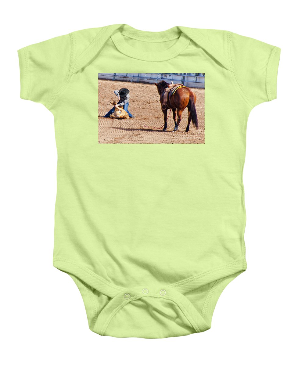 Rodeo Baby Onesie featuring the photograph Rodeo 11 by Larry White