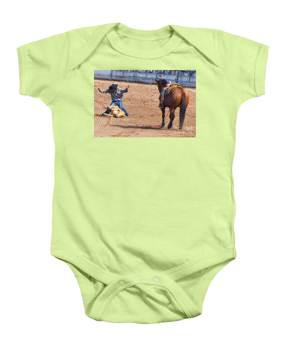 Rodeo Baby Onesie featuring the photograph Rodeo 12 by Larry White