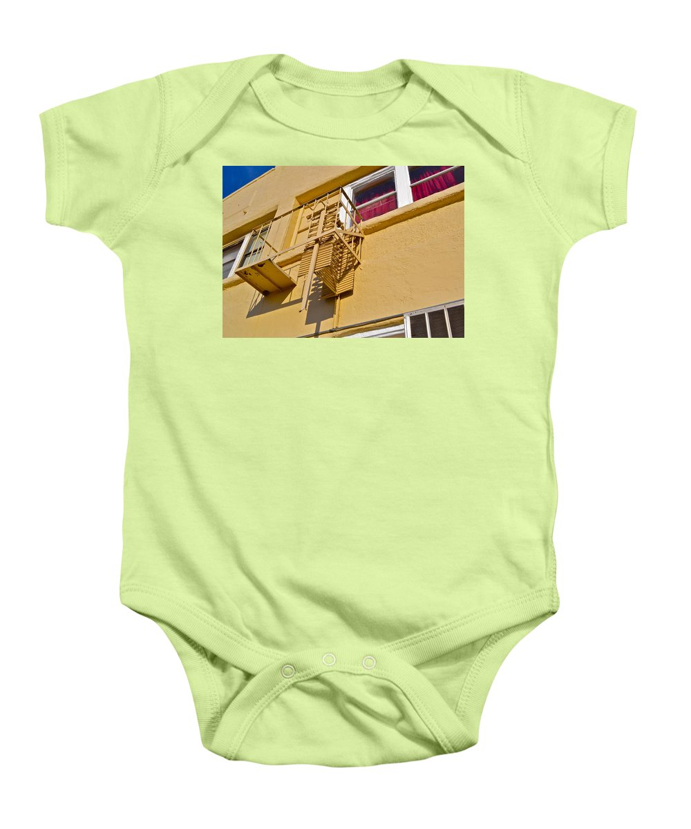 Second Floor Baby Onesie featuring the photograph Second Floor by Bill Owen