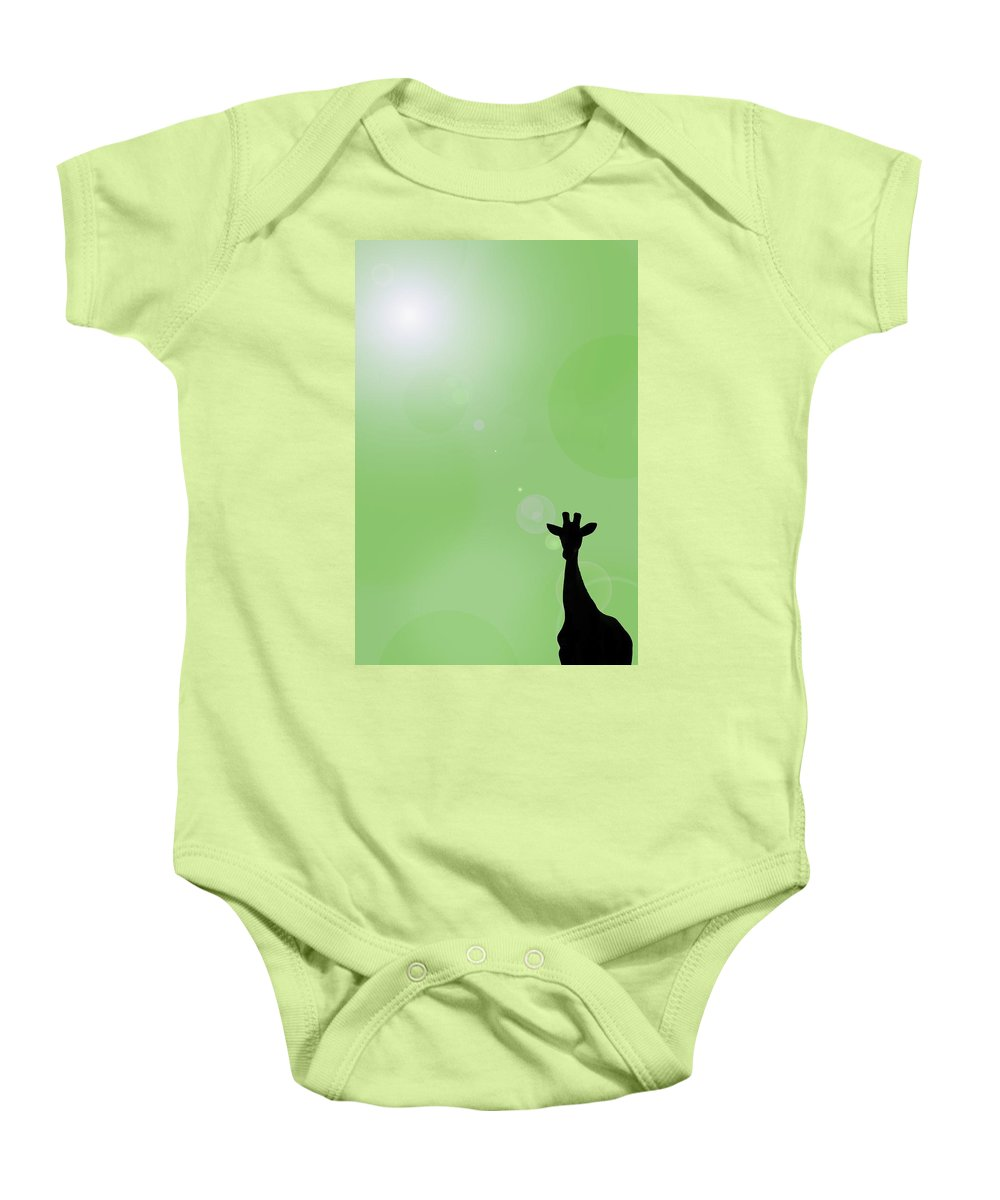 Composite Baby Onesie featuring the photograph Silhouette Of A Giraffe by Chris Knorr