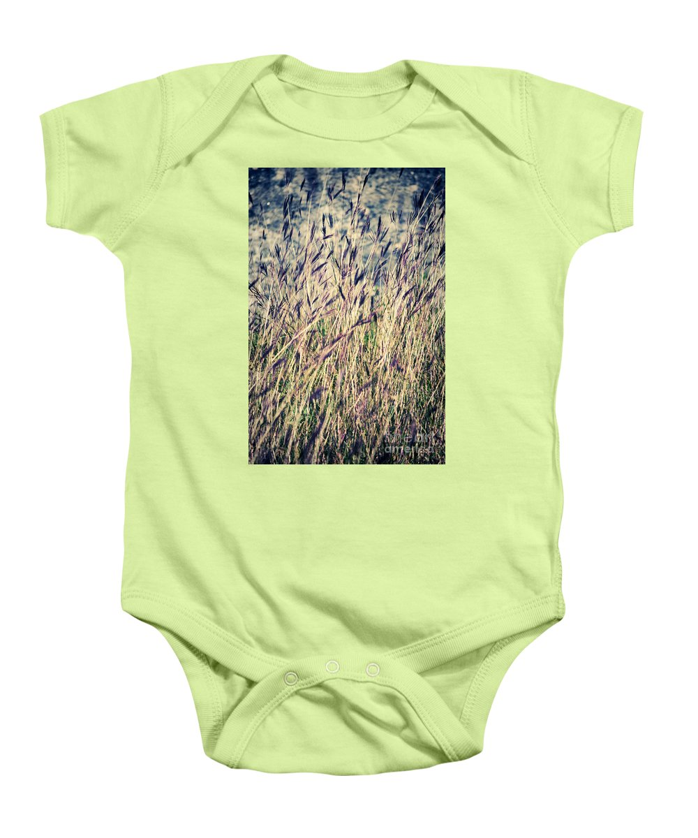 Grass Baby Onesie featuring the photograph Tall Grass by Silvia Ganora