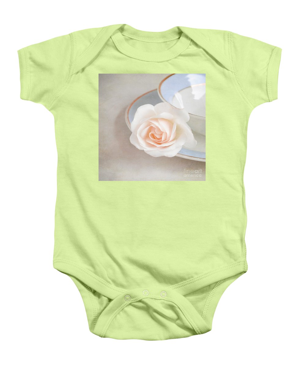 Rose Baby Onesie featuring the photograph The Sweetest Rose by Lyn Randle