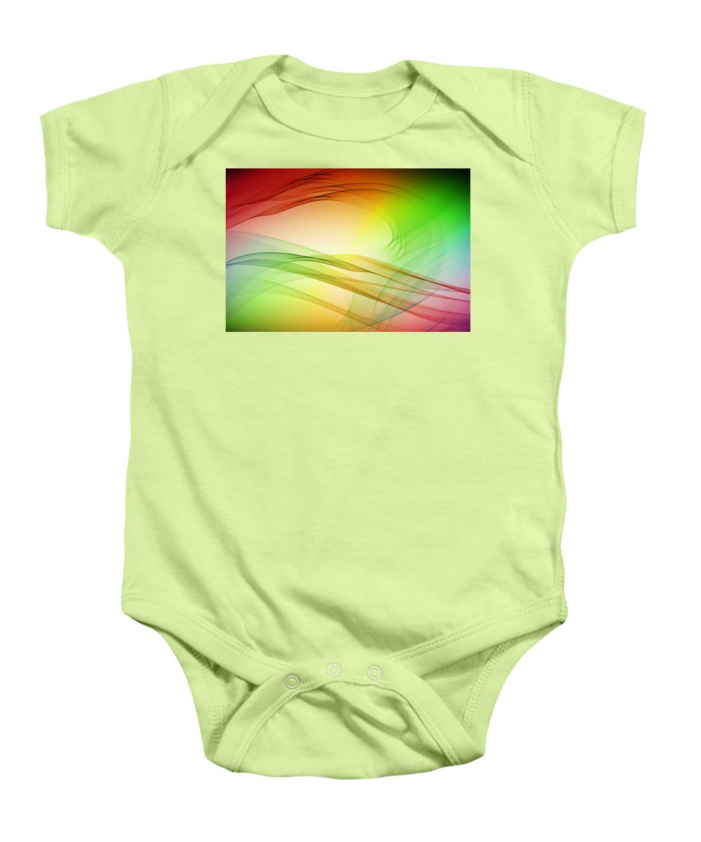 Tidal Baby Onesie featuring the digital art Tidal Wave by Angelina Vick