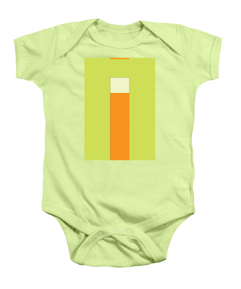 Abstract Baby Onesie featuring the digital art Ula by Naxart Studio