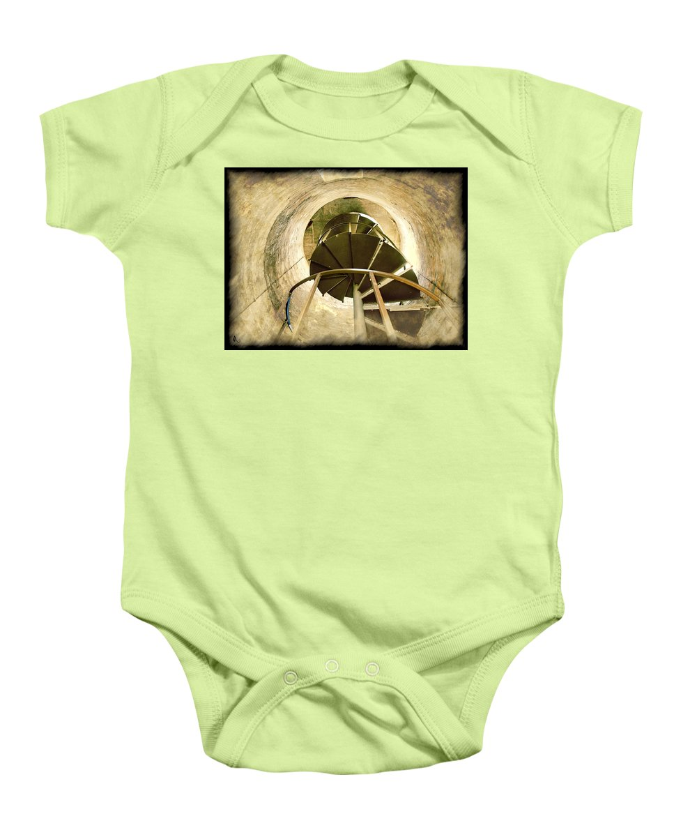 Lighthouse Baby Onesie featuring the photograph Vertigo by Adam Vance