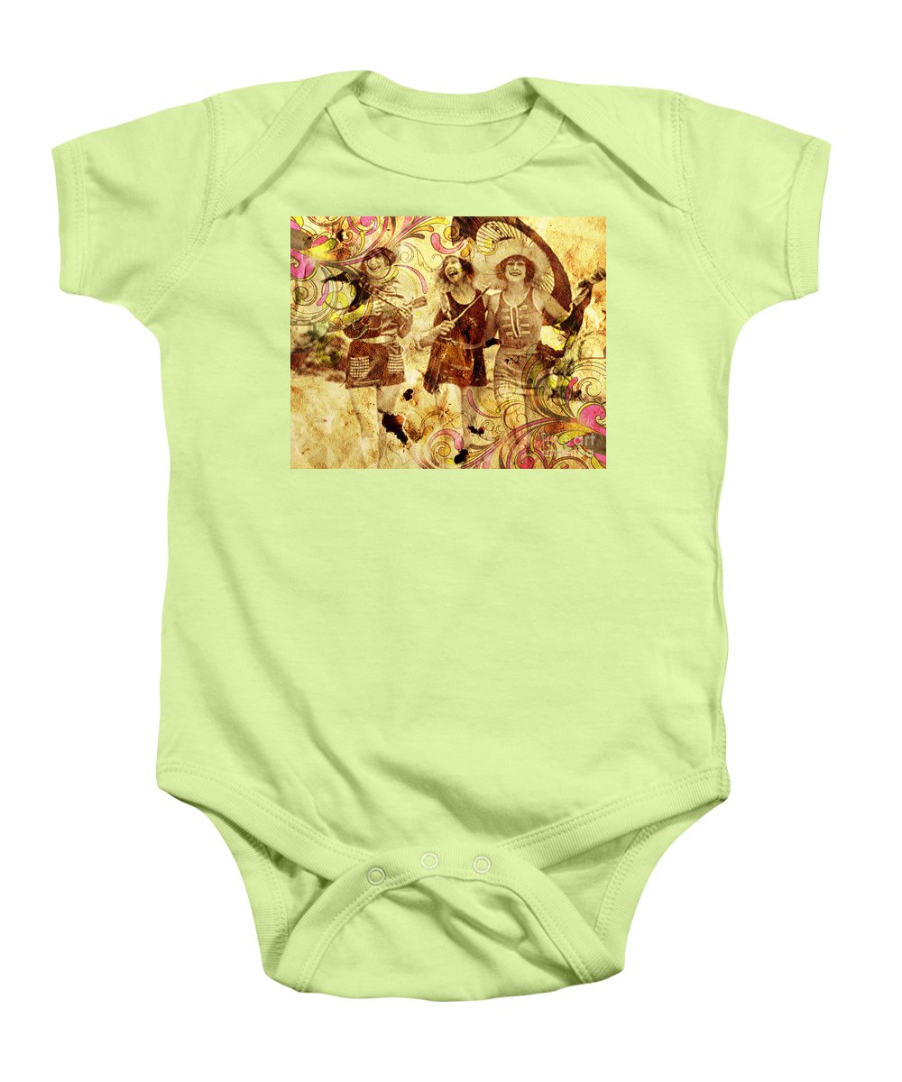 Nostalgic Seduction Baby Onesie featuring the photograph Winsome Women by Chris Andruskiewicz