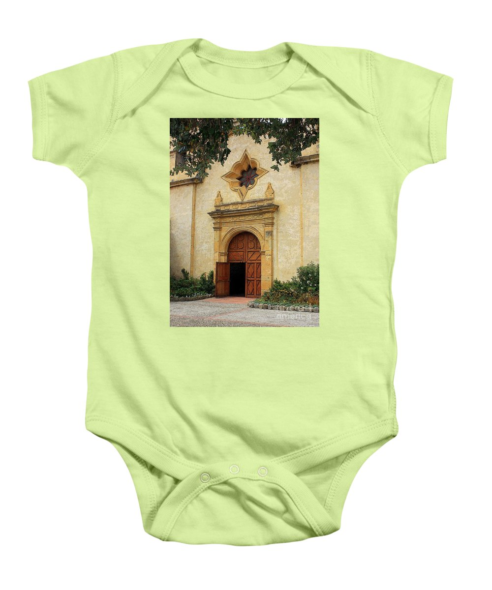 Welcoming Baby Onesie featuring the photograph You Are Welcome Here by Carol Groenen