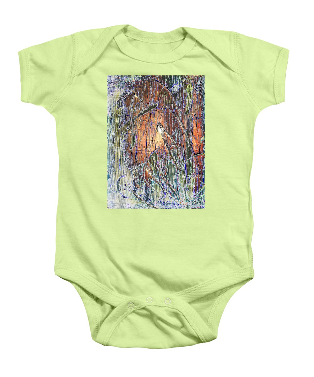 Digitally Altered Baby Onesie featuring the painting Storm 2 by Wayne Potrafka
