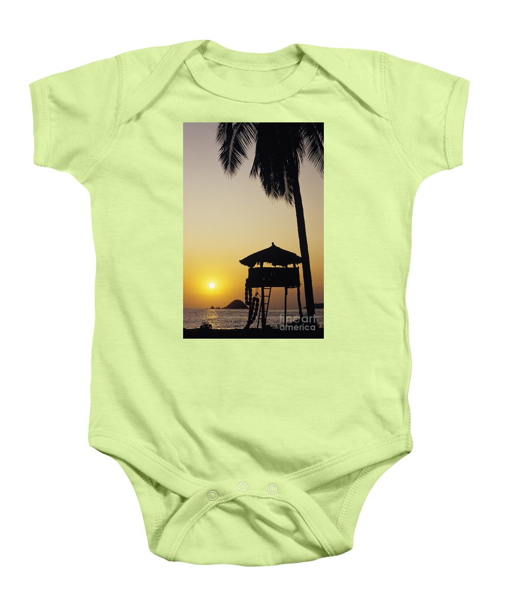 Beach Baby Onesie featuring the photograph Ixtapa Sunset by Bill Schildge - Printscapes