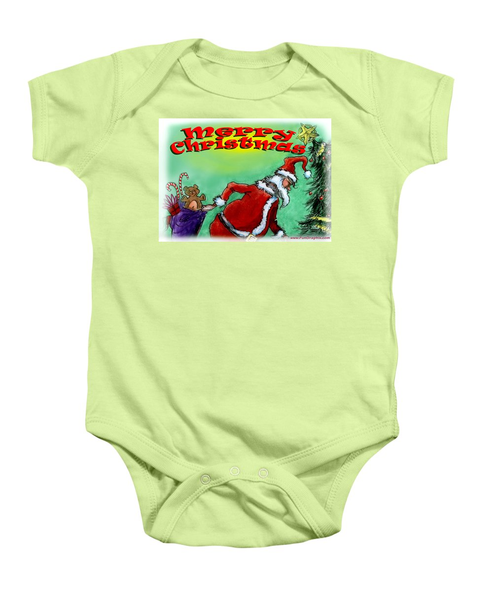 Christmas Baby Onesie featuring the digital art Merry Christmas by Kevin Middleton