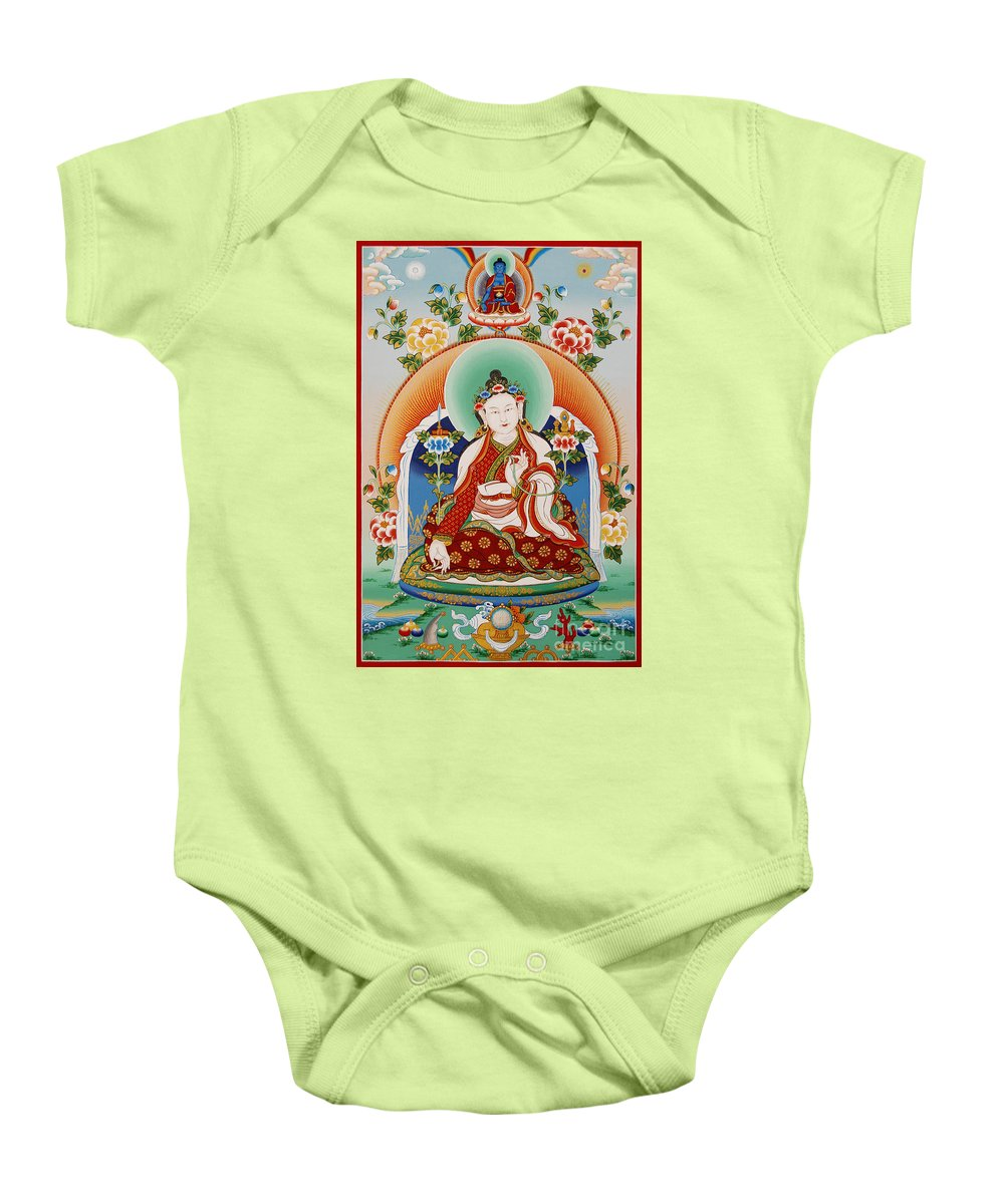 Yuthok Baby Onesie featuring the painting Yuthok Bumseng by Sergey Noskov