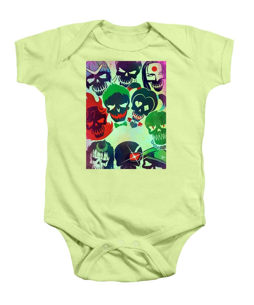 Suicide Squad 2016 Baby Onesie featuring the digital art Suicide Squad 2016 by Geek N Rock