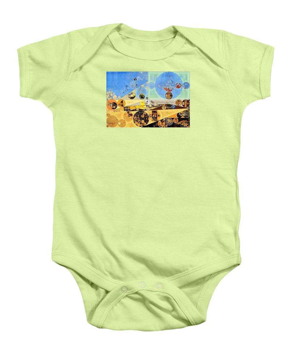 Cycle Baby Onesie featuring the digital art Abstract Painting - Brown Pod by Vitaliy Gladkiy