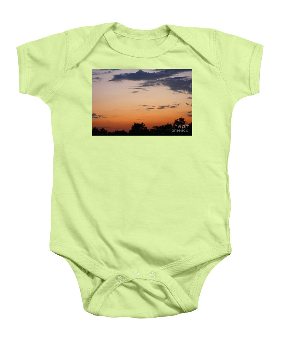 Sunset Baby Onesie featuring the photograph Sunset Moreno Valley Ca by Tommy Anderson