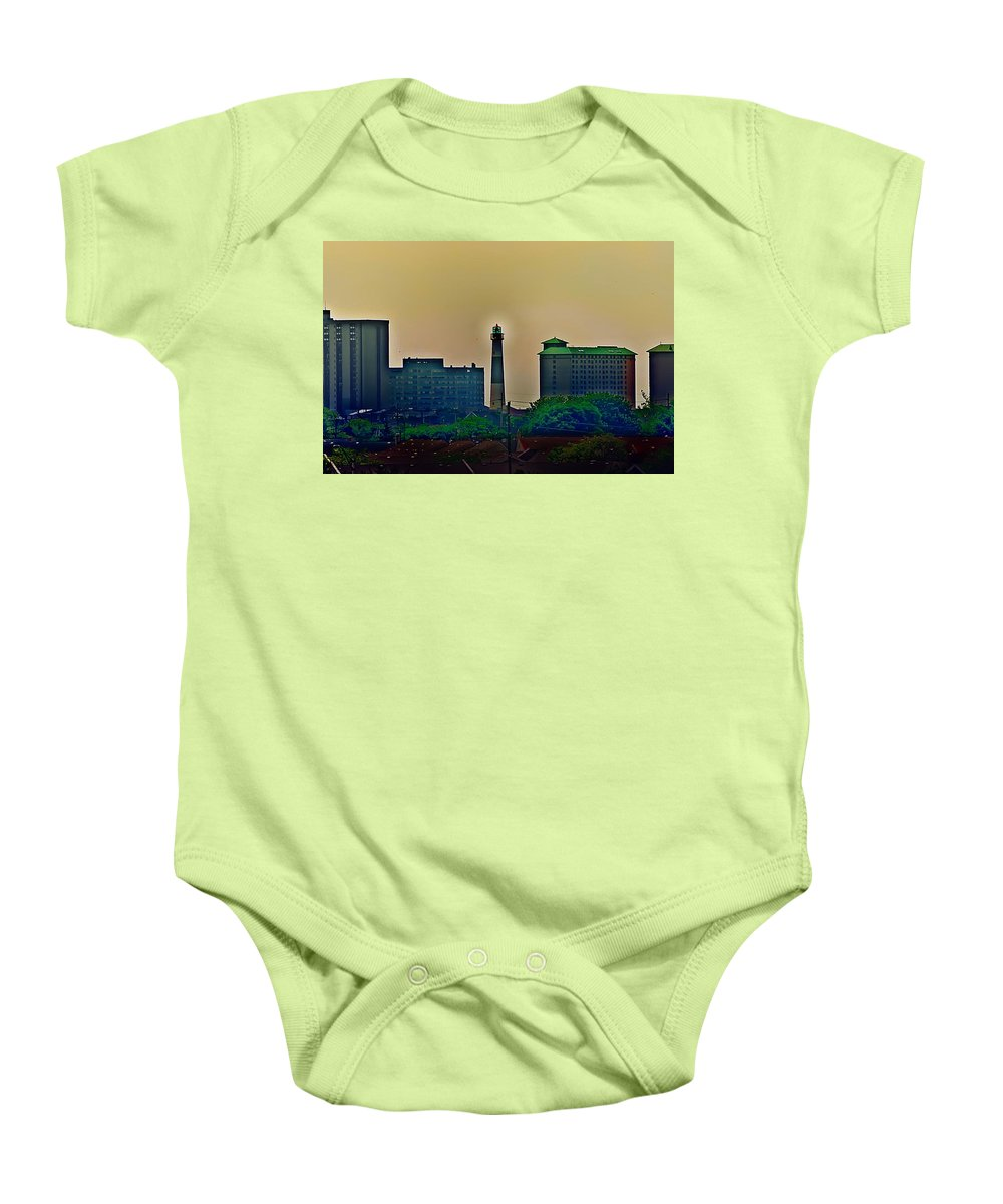 Atlantic City Baby Onesie featuring the photograph Absecon Lighthouse by Bill Cannon