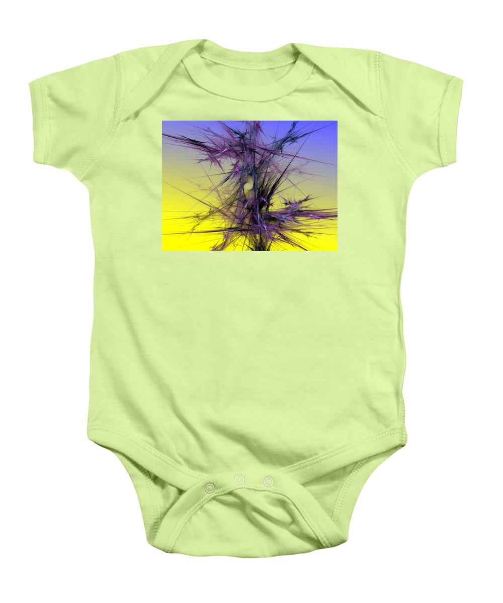 Abstract Digital Painting Baby Onesie featuring the digital art Abstract 10-08-09 by David Lane