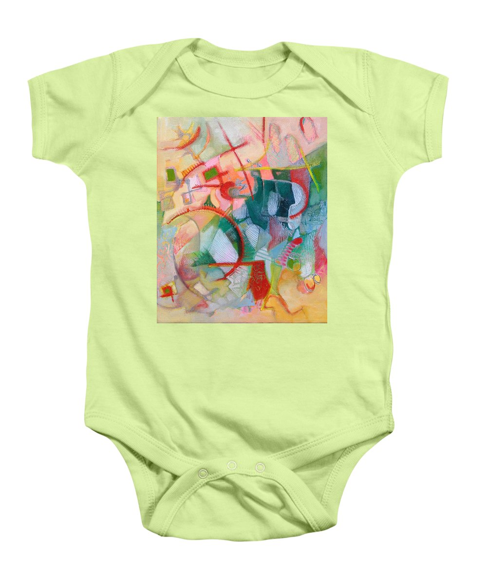 Abstract Artwork Baby Onesie featuring the painting Abstract 3 by Susanne Clark
