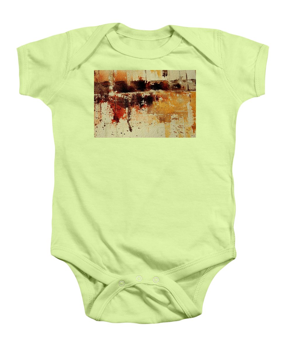 Abstract Baby Onesie featuring the painting Abstract 90801245 by Pol Ledent