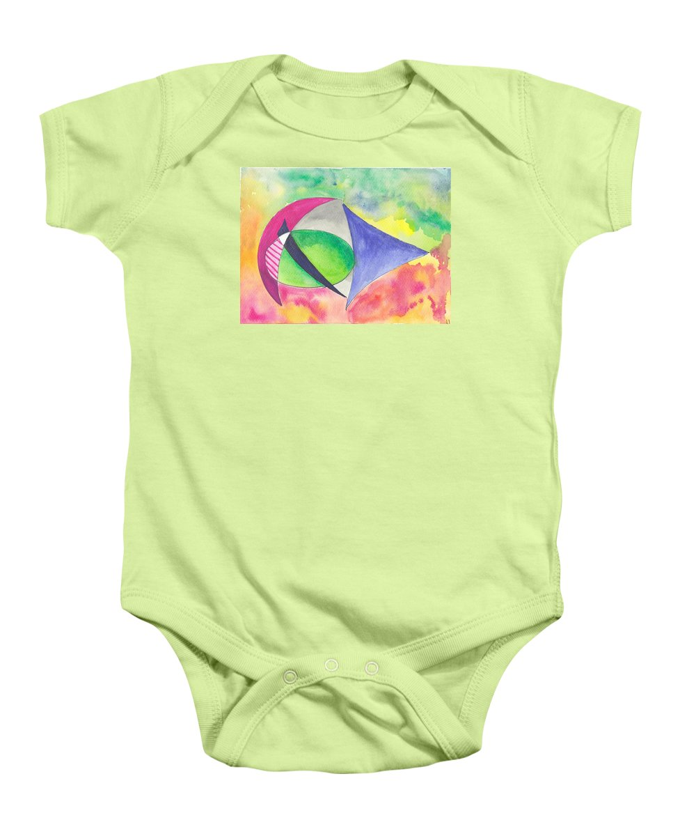 Abstract Watercolor And Ink Baby Onesie featuring the painting Abstracto by Ivonne Sequera