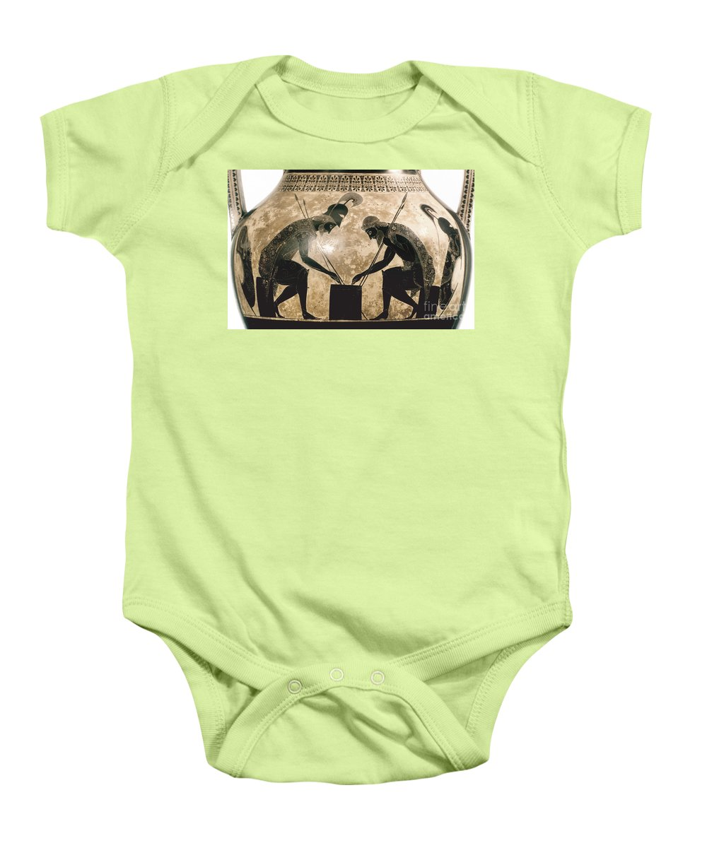 540 B.c Baby Onesie featuring the photograph Achilles & Ajax, C540 B.c by Granger
