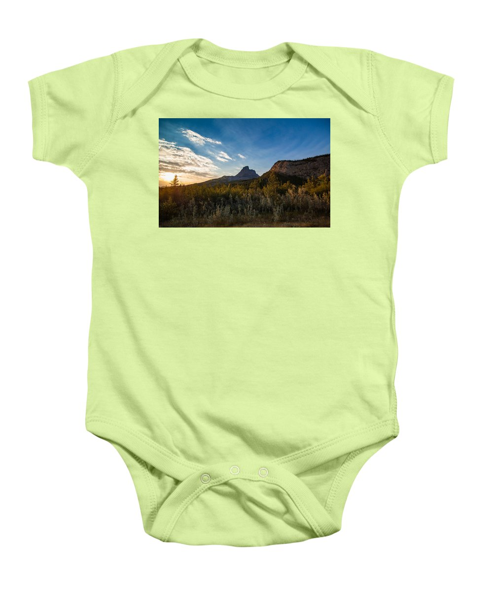 Alberta Baby Onesie featuring the photograph Alberta Sunrise by Dylan Newstead