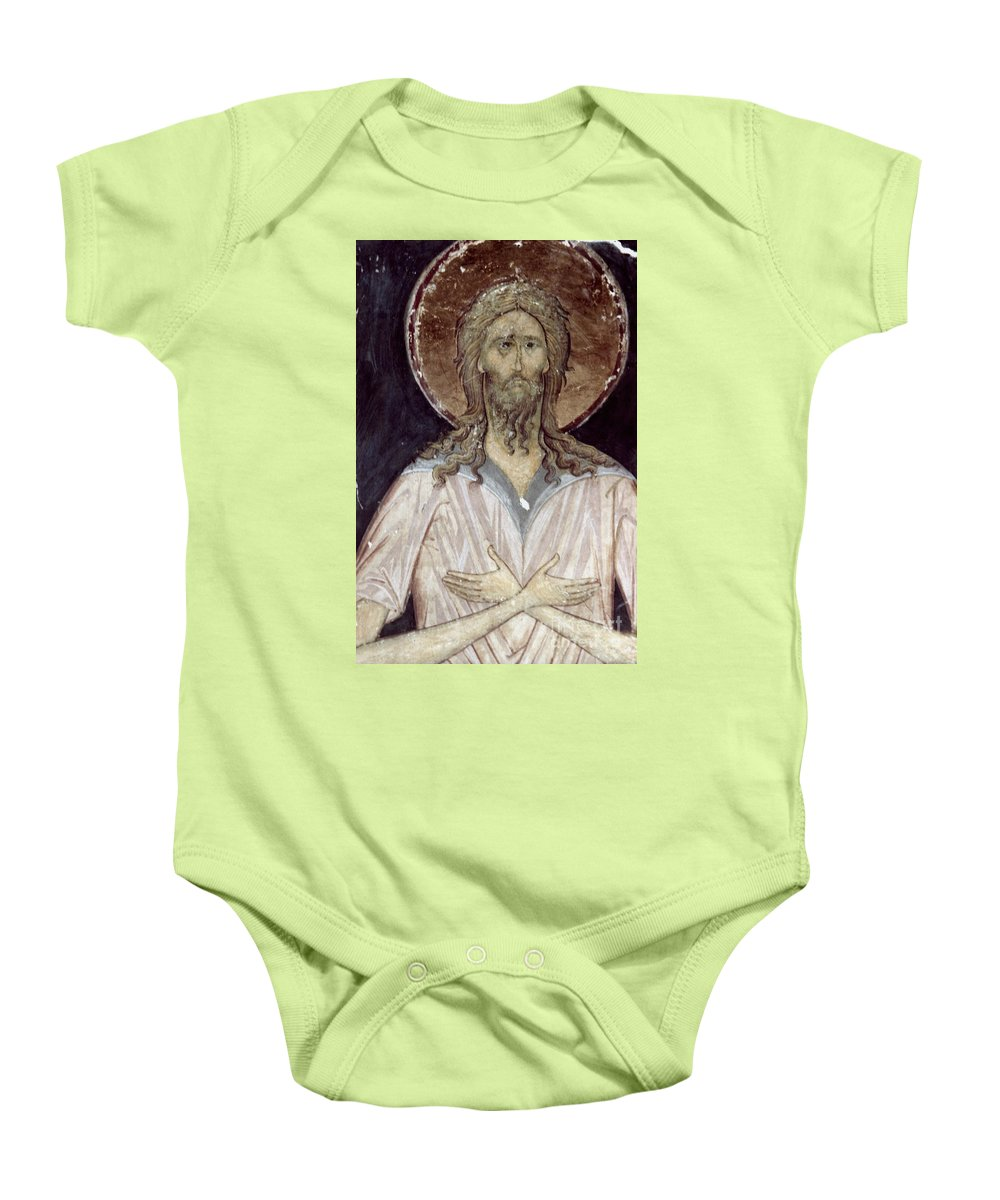 15th Century Baby Onesie featuring the photograph Alexis The Gods Man by Granger