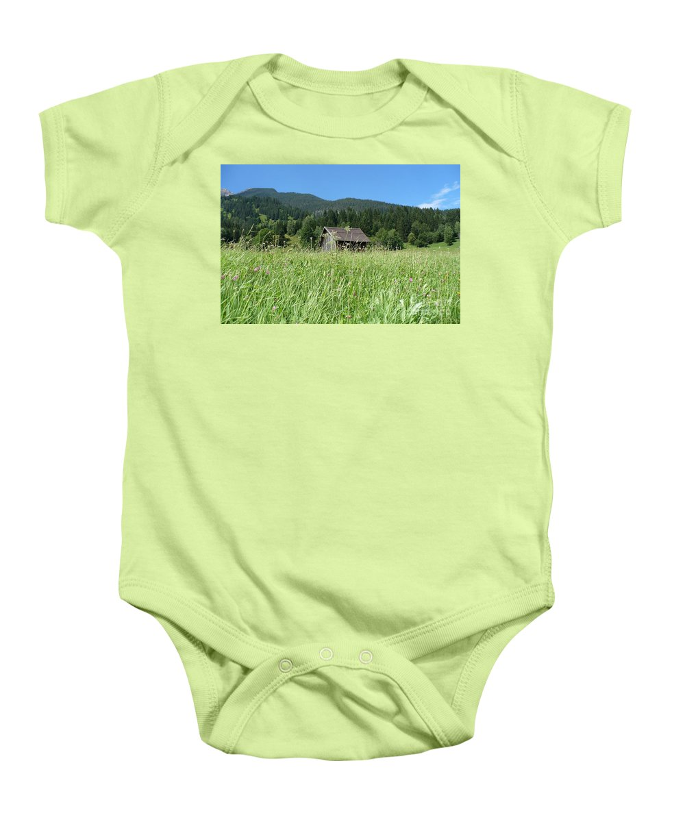 Alpine Baby Onesie featuring the photograph Alpine Meadow by Carol Groenen