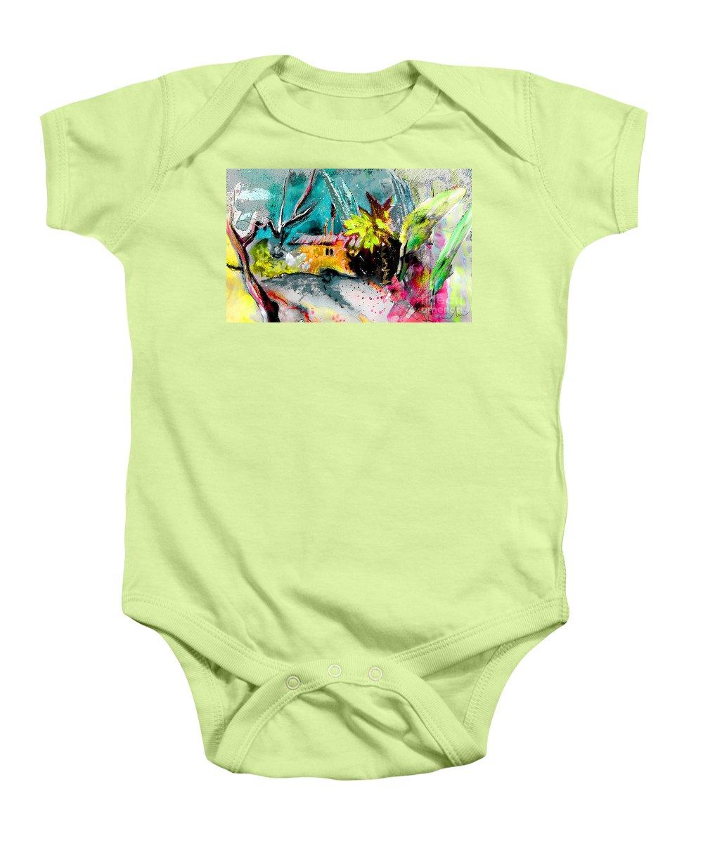 Altea La Vieja Painting Baby Onesie featuring the painting Altea La Vieja 03 by Miki De Goodaboom