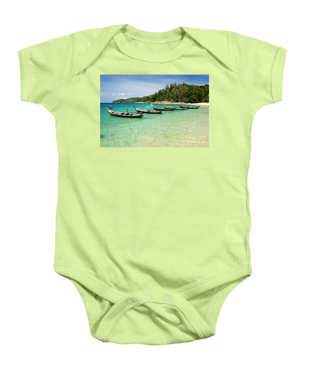 Andaman Baby Onesie featuring the photograph Andaman Coast by Bill Brennan - Printscapes