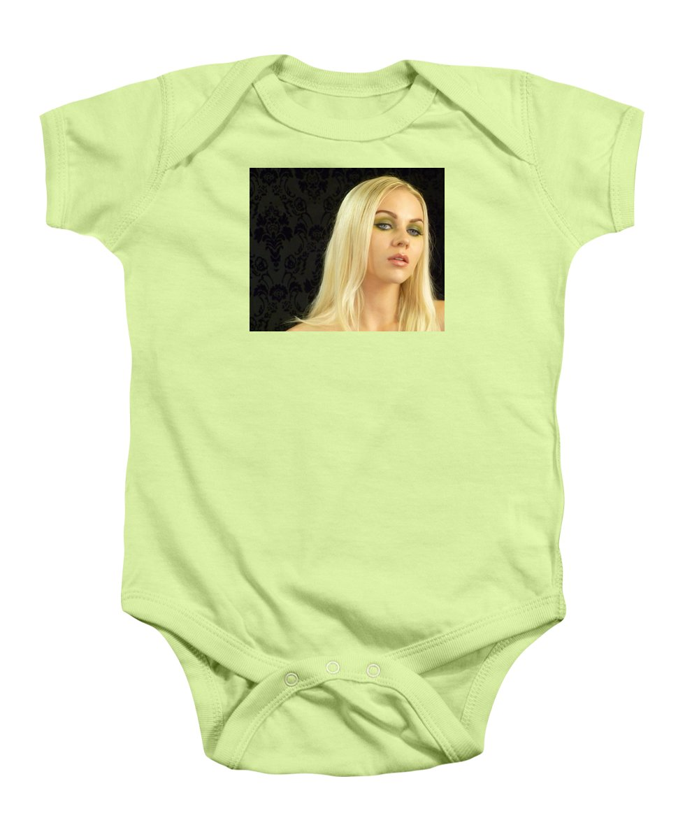 Portrait Baby Onesie featuring the photograph Anticipation by Lingfai Leung