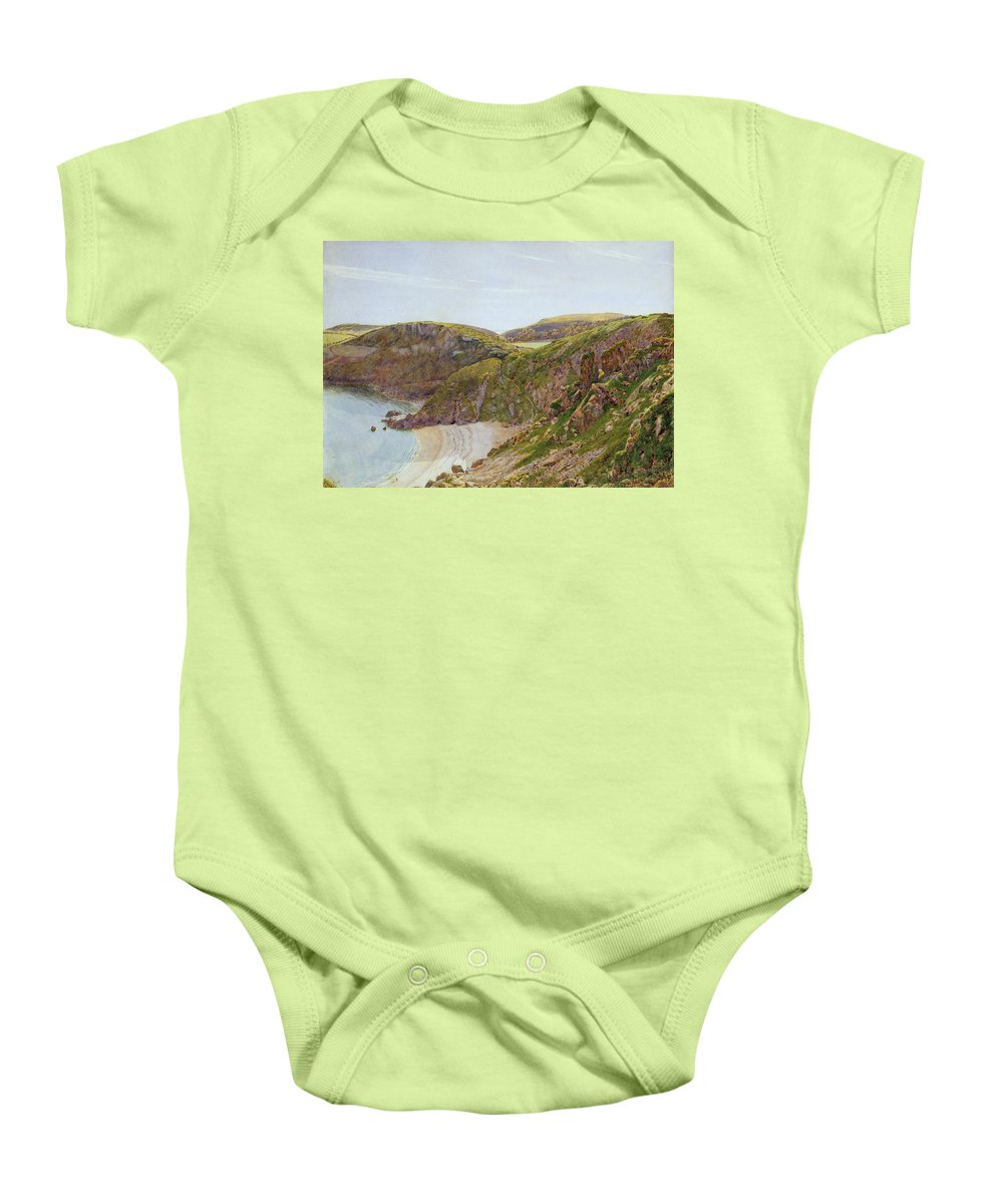 Anstey Baby Onesie featuring the painting Antsey's Cove South Devon by George Price Boyce