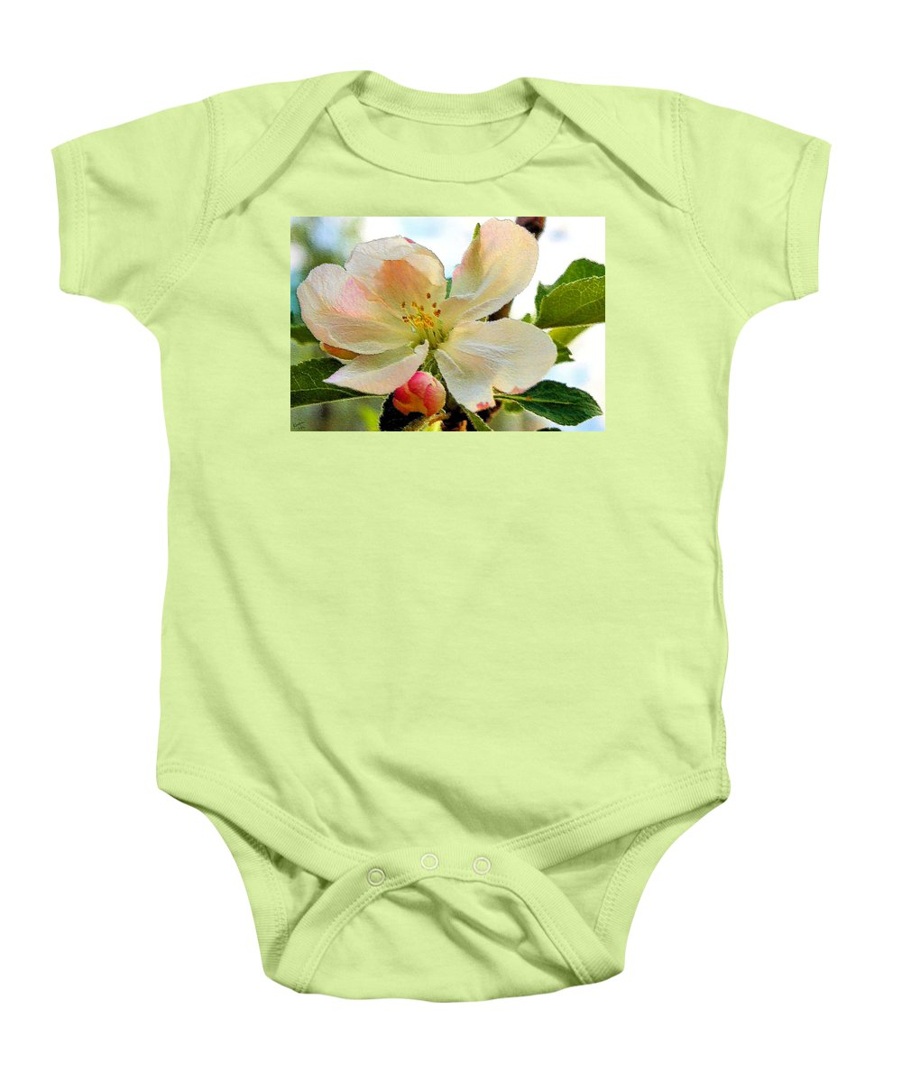 Apple Baby Onesie featuring the photograph Apple Blossom by Kristin Elmquist