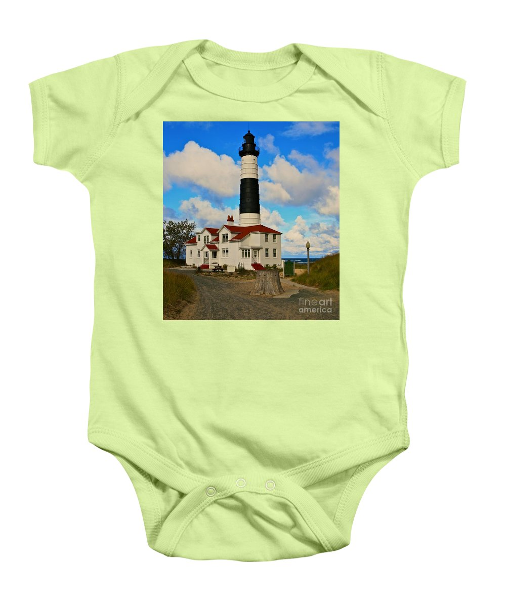 Light House Baby Onesie featuring the photograph Asauble-2 by Robert Pearson
