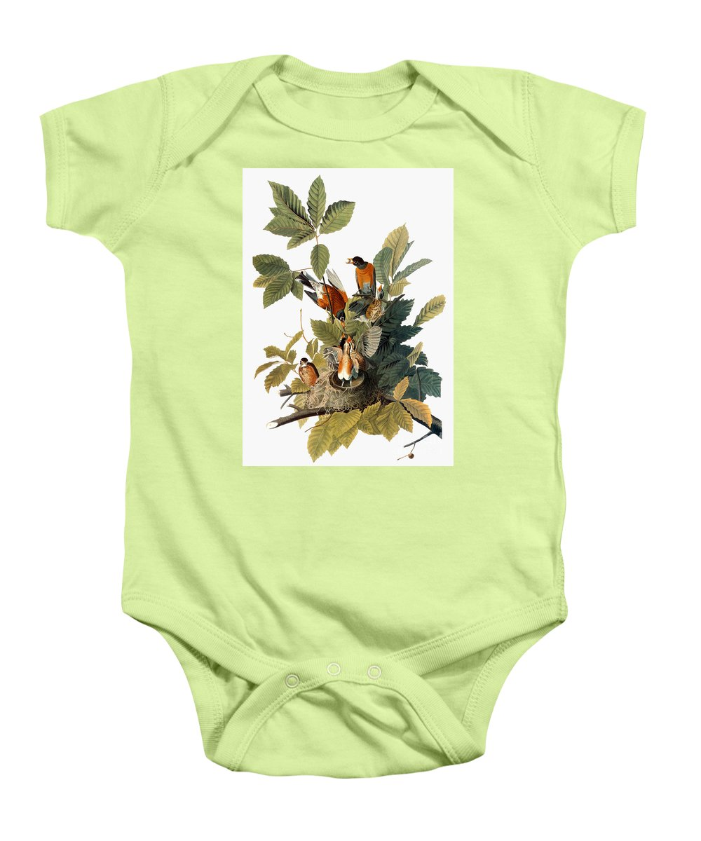 1838 Baby Onesie featuring the photograph Audubon: Robin by Granger